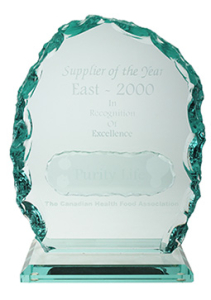 Purity Life CHFA Supplier Of The Year 2000