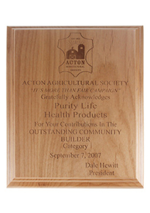 Purity Life Outstanding Community Builder 2007