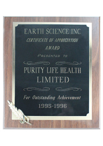 Purity Life Outstanding Sales 1995 1996