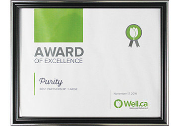 Well.Ca vendor award of excellence