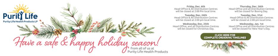 Holiday Closure 2019 Purity Life
